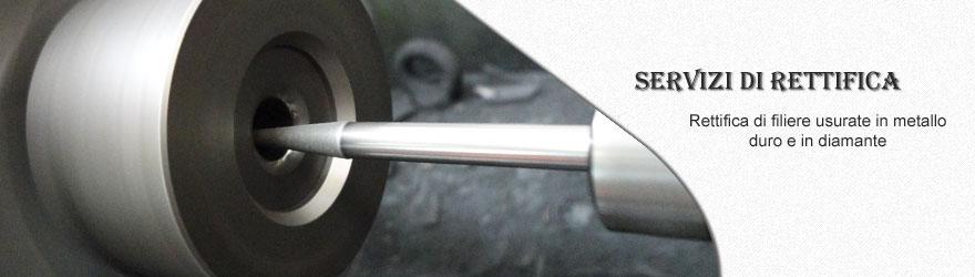 Servizi rettifica di filiere usurate in metallo